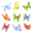 Colorful watercolor butterflies vector image vector image