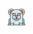 cute mouse icon on white background vector image vector image