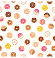 doodle donuts fun pattern vector image vector image