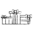 figure nice presents gifts to merry christmas vector image vector image
