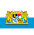 flag of bavaria in germany vector image