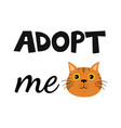 flat cartoon cat icon design adopt me vector image