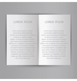 Folded sheet of paper blank brochure template vector image