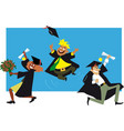 graduates cheers vector image