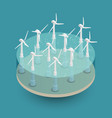 green wind energy isometric composition vector image vector image