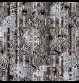 grunge modern textured 3d seamless pattern vector image