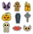 halloween set icon flat design vector image