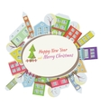 Happy New Year greeting card - Home background vector image