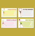 layout banner template design for sport event vector image vector image