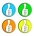 Like colored icons set vector image vector image
