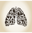 Lungs vector image vector image