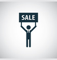 man sale banner icon simple flat element concept vector image vector image