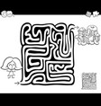 maze activity game with girl and sweets vector image vector image