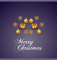 merry christmas glowing ball and bell background vector image
