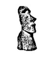 moai statue in the rano raraku volcano in easter vector image vector image