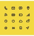 Mobile interface and apps line icon set vector image vector image