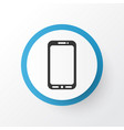 mobile phone icon symbol premium quality isolated vector image