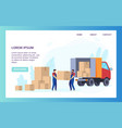 moving service website transportation and vector image