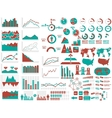 NEW STYLE WEB ELEMENTS INFOGRAPHIC DEMOGRAPHIC RED vector image vector image