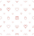 passion icons pattern seamless white background vector image vector image