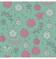 Romantic seamless pattern with ladybugs flowers vector image vector image
