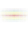 running man spectrum halftone grid vector image