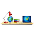 science education objects on desk cartoon style vector image