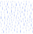 seamless blue rain drops pattern vector image