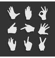 Set Hand Symbols vector image vector image