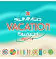 Set of summer beach icons vector image