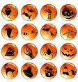 set orange halloween icons vector image vector image