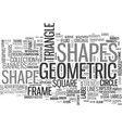 shape word cloud concept vector image vector image