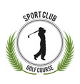 sport club golf course player vector image vector image