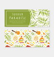 summer paradise horizontal banner template vector image