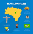 travel to brazil cultural travel information vector image