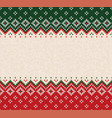 ugly sweater merry christmas ornament vector image vector image
