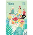 vertical advertising poster on a picnic theme vector image vector image