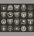 vintage monochrome hunting club labels vector image vector image