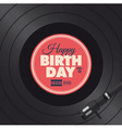 vinyl happy birthday red card vector image vector image