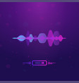 voice assistant banner vector image