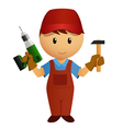 worker drill vector image vector image