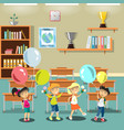 kids in a classroom vector image