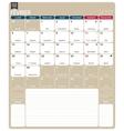French calendar 2017 vector image