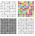 100 arrow icons set variant vector image vector image