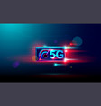 5g wireless internet with high speed download and vector image vector image