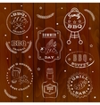 Barbeque set vector image vector image