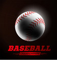 baseball ball in the backlight on black background vector image vector image