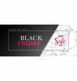 black friday sale banner with marble texture and vector image vector image