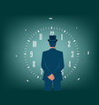 businessman and time for solutions vector image