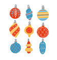 christmas toys in the scandinavian vector image